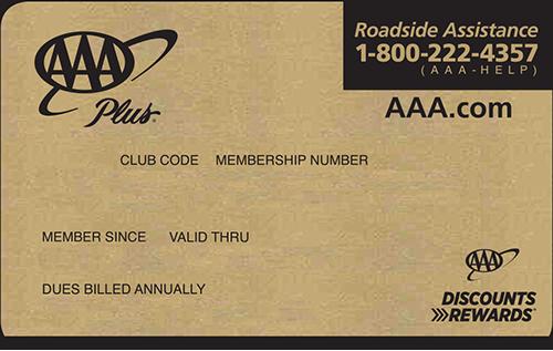 AAA Plus Membership card preview