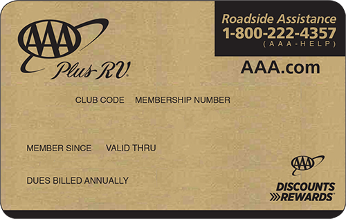 AAA Plus RV Membership card preview
